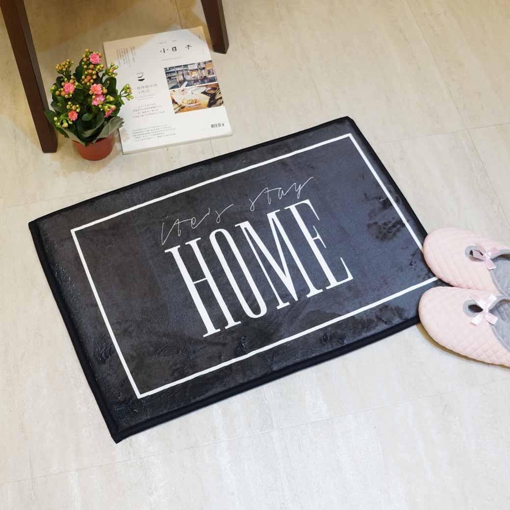 【Caldo卡朵生活】回家真好方形腳踏地墊(三色)