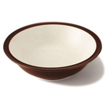 美濃焼 ボウル16 ホワイト&ブラウン 約 直径16.7×高さ4.6cm 洋食器