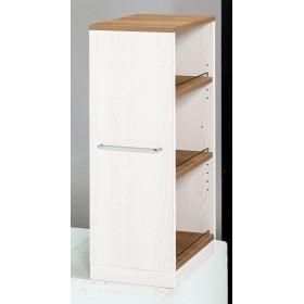 すきまキッチン積み重ねラック 30cm幅 オープン SPC-30O(ナチュラルホワイト) 幅30×奥行45×高さ80(85)cm キッチン収納