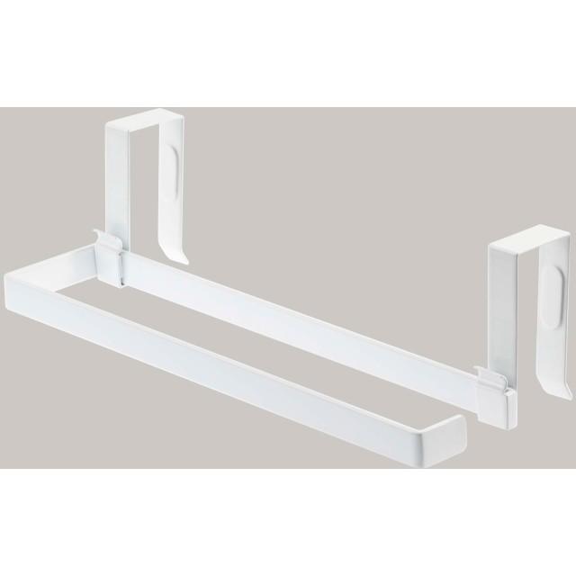 キッチンペーパー&タオルハンガープレート ホワイト 約縦8X横2X高さ27.5cm 台所整理用品