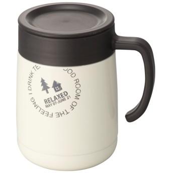 取っ手付きステンレスマグカップ アイボリー 360ml トップバリュ 360ml ステンレスタンブラー
