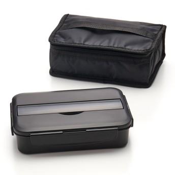 HOME COORDY 4点ロック弁当箱1段カバー付ブラック ホームコーディ 950mL