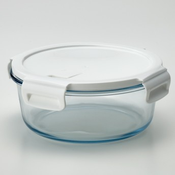 HOME COORDY 耐熱ガラス保存容器 丸型 950ml ホームコーディ 950ml