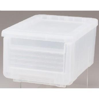 HOME COORDY 引出し式収納ボックススリム ホームコーディ クリア 約幅30×奥行40×高さ22cm 衣類ケース・プラチェスト
