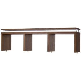 オープン上棚ブラウン横3列 トップバリュ 幅127.9×奥行29.6×高さ36.5-52cm シェルフ・ディスプレイラック