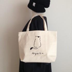 Nyao Mサイズ ロゴトートバッグ