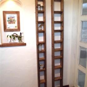 パイン材の柱棚(サイズ指定の隙間棚、幅 20cmバージョン)受注生産品