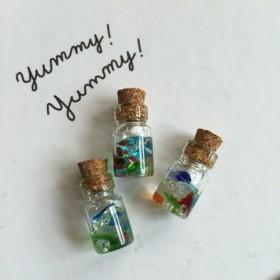 送料無料 琉球ガラスのコルク瓶3本