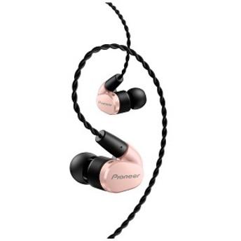 パイオニア PIONEER 【ハイレゾ音源対応】[マイク付]耳かけカナル型イヤホン 1.2mコード SE-CH5T-P (ピンク)