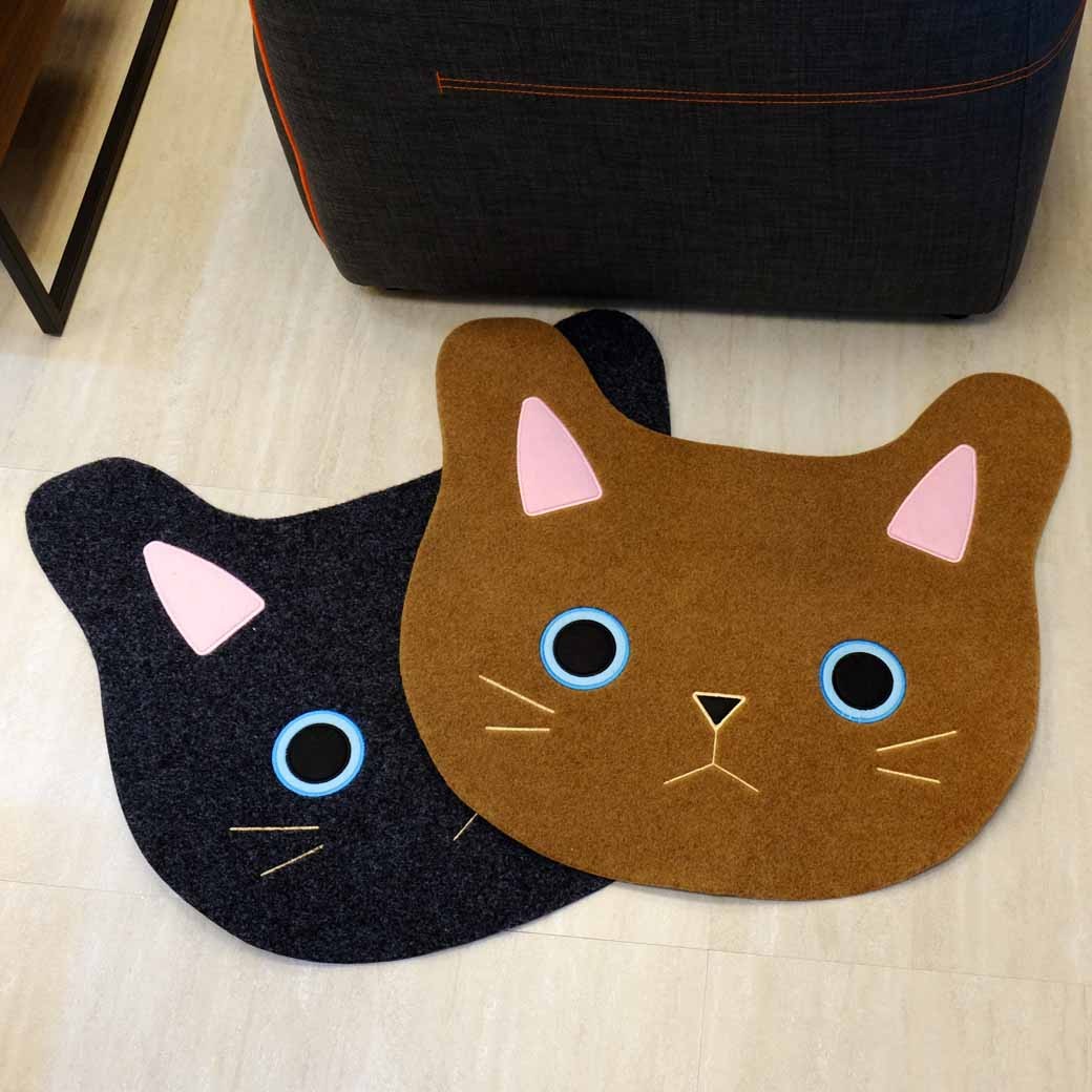 【Caldo卡朵生活】呆萌大貓咪玄關入口腳踏地墊