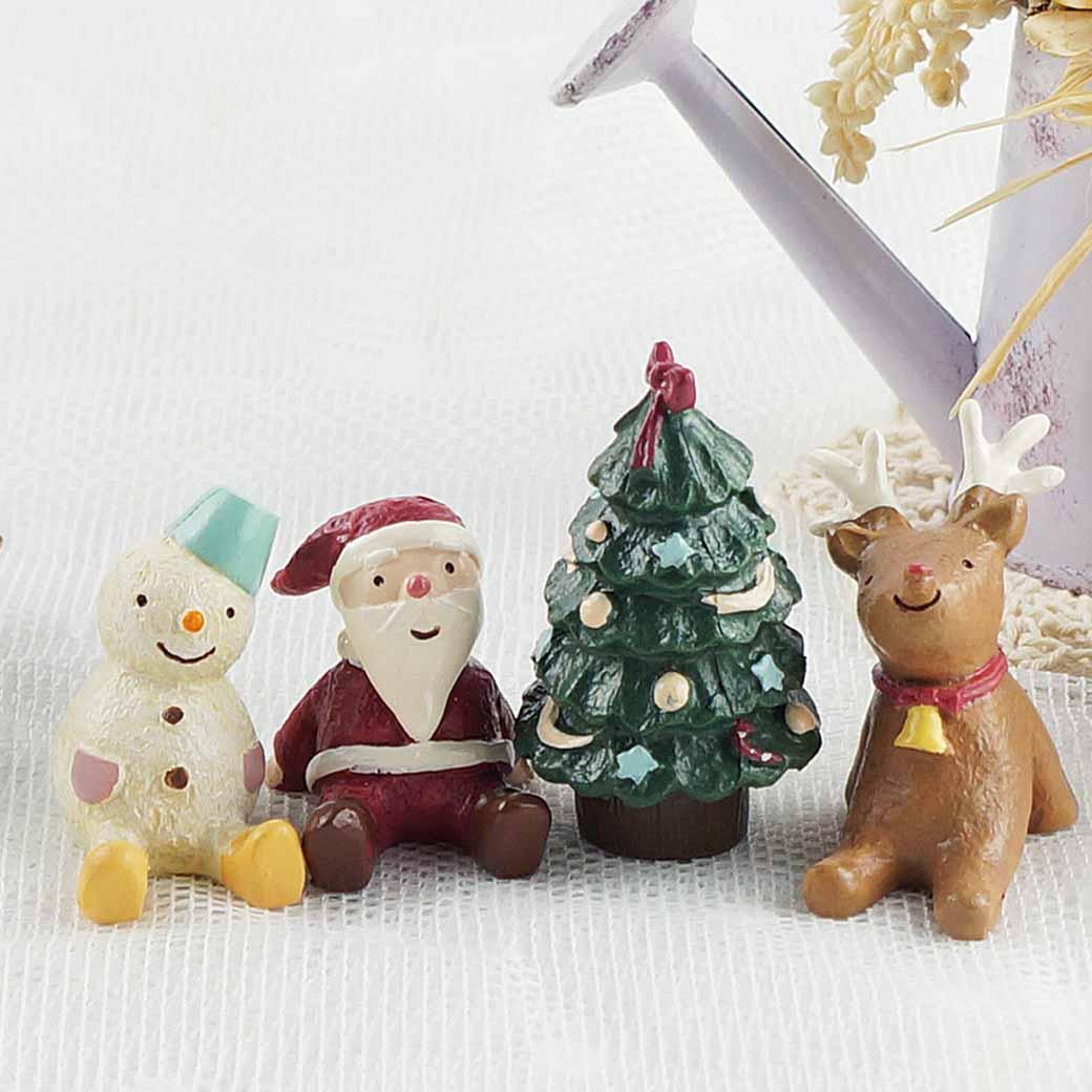 【Caldo卡朵生活】叮噹耶誕微景觀桌面裝飾小物(四入一組)