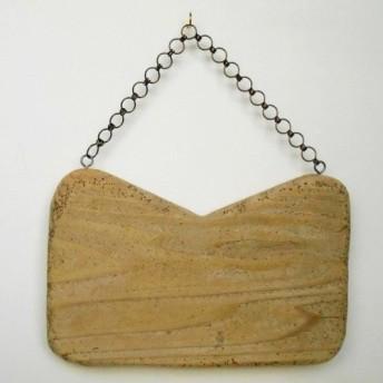 【温泉流木】ハンドバッグのようなかわいい流木看板 木製サインボード 流木インテリア