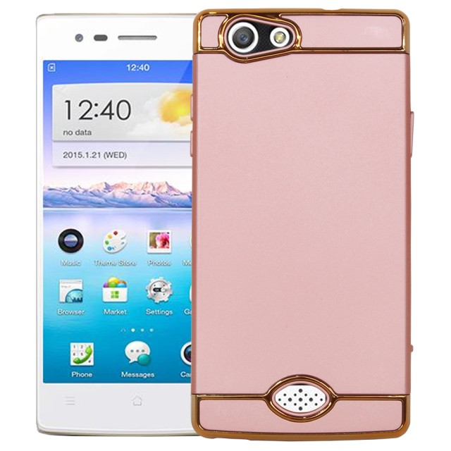 Case 3 in 1 Plated PC Frame Bumper Oppo A31 NEO 5 ROSE .