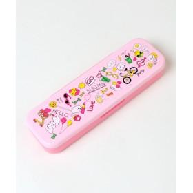 【オンワード】 Mother garden(マザーガーデン) しろたん ペンケース 筆箱 買い物柄 プラ製 0 - キッズ