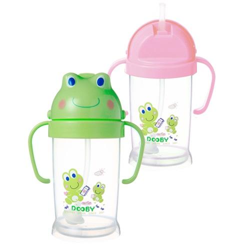 DOOBY大眼蛙卡通神奇喝水杯250cc-綠/粉