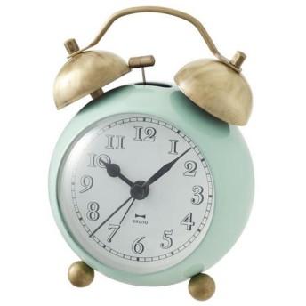 目覚まし時計 ゴールドツインベル グリーン