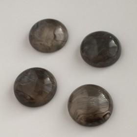 《(1)グレー》カボション・ボタンパーツ(4コセット)