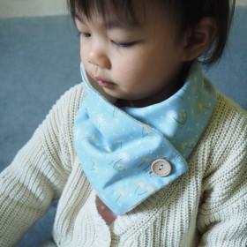 青とエレガントな花は暖かい赤ちゃん/子供のスカーフをキルト