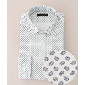 【オンワード】 DAKS GOLF(ダックス ゴルフ) 【MEN】小紋プリント カノコ ドレスシャツ ホワイト M メンズ 【送料無料】