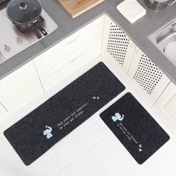 時尚創意地墊170 廚房浴室衛生間臥室床邊門廳 吸水長條防滑地毯(一大+一小 2件裝)