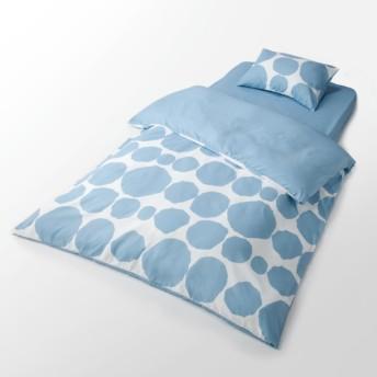 HOME COORDY ベッド用カバー3点セットドット柄 シングル ブルー ホームコーディ シングル 布団カバーセット