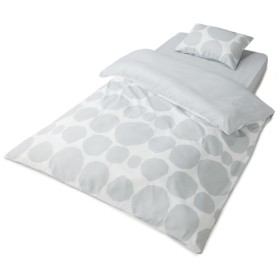 HOME COORDY ベッド用カバー3点セットドット柄 シングル グレー ホームコーディ シングル 布団カバーセット