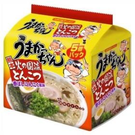インスタントラーメン ラーメン 麺類 豚骨ラーメン うまかっちゃん 熊本 火の国流とんこつ 香ばしにんにく風味 5個パック