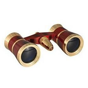 SAFARI/サファリ 双眼鏡 SA-56FF-L 3×25mm オペラグラス ワインレッド(ライト付き)