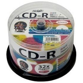ハイディスク 音楽用CD-R ワイドプリンタブル HDCR80GMP50 ( 50枚入 )/ ハイディスク(HI DISC)