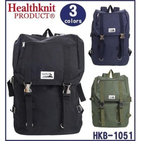 Healthknit ヘルスニット リュック メタルバックルバックパック  HKB-1051 01BLK・ブラック