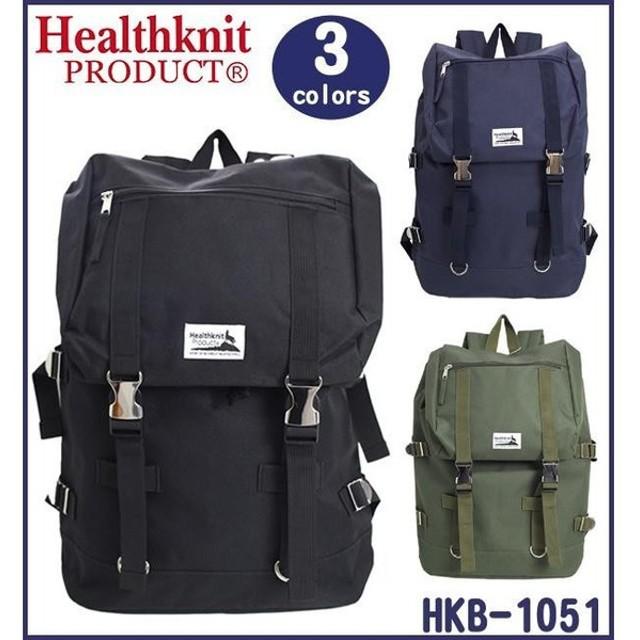 76bb87e20870 Healthknit ヘルスニット リュック メタルバックルバックパック HKB-1051 01BLK・ブラック