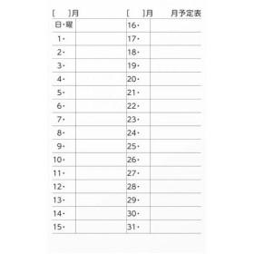 ソニック アルファMAGスケジュールシートM月間予定表