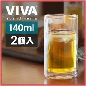 ダブルウォールグラス 耐熱ガラス VIVA M 2個セット