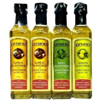 オリーブオイル 料理の素 調味料 OTTAVIO FLAVORED EXTRA VIRGIN OLIVE OIL 232g× 4本セット