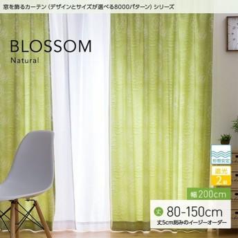 窓を飾るカーテンシリーズ ナチュラル BLOSSOM(ブロッサム)幅200cm×丈80〜150cm(1枚 ※5cm刻み) 形態安定(代引不可)(B)