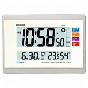カシオ 電波掛け時計 「生活環境お知らせクロック」 IDL-140J-7JF
