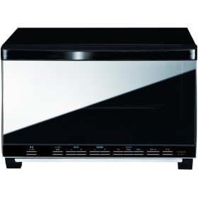 ツインバード(TWINBIRD) ミラー ガラスオーブントースター(ブラック) TS-4057B