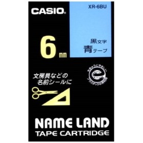 カシオ計算機(CASIO):ネームランド(テープカートリッジ) XR-6BU