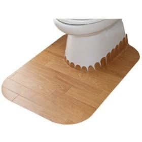 サンコー おくだけ吸着 拭けるトイレマット ロング KJ-89 巾60×奥行き90cm 厚約3mm ウッド