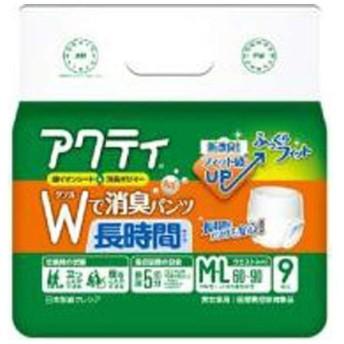 日本製紙クレシア アクティ Wで消臭パンツ 長時間タイプ М−L 9枚