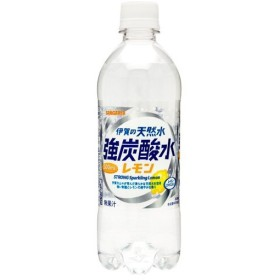 天然水 強炭酸水 炭酸水 スパークリング サンガリア 伊賀の天然水 強炭酸水レモン 500mL24本