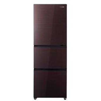 【基本設置料金セット】 ハイセンス 3ドア冷蔵庫 (282L) HR-G2801-BR ダークブラウン 【お届け日時指定不可】
