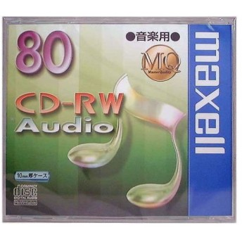 maxell 日立マクセル CD-RW音楽用1枚 CDRWA80MQ.1TP (0110771) 送料区分B