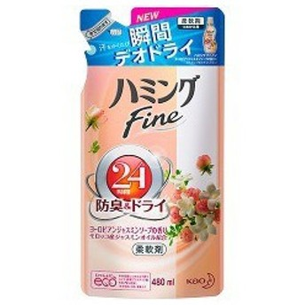 ハミング ファイン 柔軟剤 ヨーロピアンジャスミンソープの香り 詰め替え ( 480mL )/ ハミング ( FINE 防臭 つめかえ 詰替 液体 )