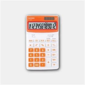 【その他】オーロラ/デスクトップ電卓 オレンジ DT125TXO(2428452)【送料区分B】