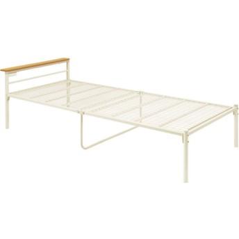 北欧 家具 木製 収納 おしゃれシングルベッド KH-3464M-IV(代引不可)(HH)