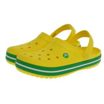 クロックス メンズ レディース クロッグサンダル crocband : レモンイエロー×イエローグリーン 110167A8 crocs