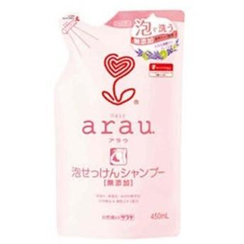 サラヤ 【arau(アラウ)】泡せっけんシャンプー つめかえ用(450ml)