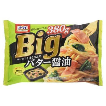 日本製粉 オーマイBIGベーコンとほうれん草バター醤油 380g