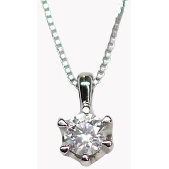 プラチナ Pt900 0.07ct ダイヤモンドネックレス(ジュエリーケース付き)